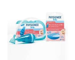 Physiomer Baby Nasal Aspirator, Ρινικός αποφρακτήρας για βρέφη 1 τεμάχιο & μία συσκευασία με 5 προστατευτικά φίλτρα