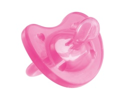 Chicco Physio Soft Πιπίλα σιλικόνης χρώματος Ροζ , 12m+