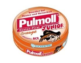 Pulmoll Junior Orange,  Παιδικές καραμέλες για το βήχα με πορτοκάλι 50g