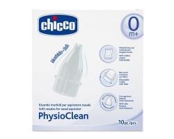 Chicco PhysioClean Ανταλλακτικά Για τον Ρινικό Αναρροφητήρα 10τμχ.
