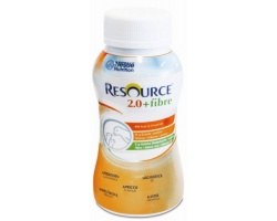 Nestle Resource 2.0 + Fibre Συμπλήρωμα διατροφής πλούσιο σε θερμίδες μαζί με φυτικές ίνες με γεύση βερύκοκο 200ml