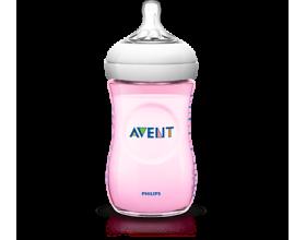 PHILIPS AVENT SCF 694/17 Natural Pink 1m+ 260ml, Μπιμπερό χωρίς ΒΡΑ κατάλληλο για νεογέννητα