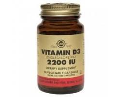 Solgar Vitamin D3 2200 IU, Συμπλήρωμα διατροφής με βιταμίνη D και A για τη σωστή υγεία των οστών, του νευρικού συστήματος και του ανοσοποιητικού 50 φυτικές κάψουλες