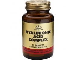 SOLGAR Hyaluronic Acid Coplex, Συμπλήρωμα διατροφής για φυσικά νέο πρόσωπο με υαλουρονικό οξύ 30 ταμπλέτες