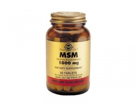 SOLGAR MSM 1000mg, Συμπλήρωμα διατροφής με αντιοξειδωτικές, αποτοξινωτικές και αντιφλεγμωνόδες δράσεις 60 ταμπλέτες