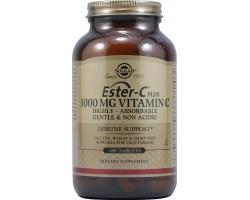 SOLGAR Ester-C 1000mg Συμπλήρωμα Διατροφής που έχει τα ίδια οφέλη με τη βιταμίνη C, αλλά προσφέρεται σε μη όξινη μορφή 180 ταμπλέτες
