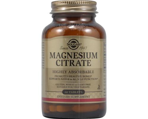 SOLGAR Citrate Magnesium 200mg 60 tabs, Βοηθά στην ομαλοποίηση των συμπτωμάτων που σχετίζονται με το στρες, ενώ παράλληλα προάγει την ομαλή παραγωγή ενέργειας στο σώμα