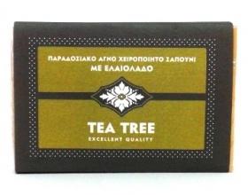 Novomed ΑΙΘΕΡΙΟ, Χειροποίητο σαπούνι με Tea Tree Καταπολεμά φλεγμονές και μολύνσεις. Ιδανικό για ηλιακά εγκαύματα & ερεθισμένο δέρμα 100gr