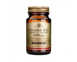 SOLGAR Vitamin B12 1000 μg, συμπλήρωμα διατροφής για τη φυσιολογική λειτουργία  των κυττάρων του οργανισμού, ειδικά αυτών του μυελού των οστών, της γαστρεντερικής οδού και του νευρικού συστήματος 100 nuggets