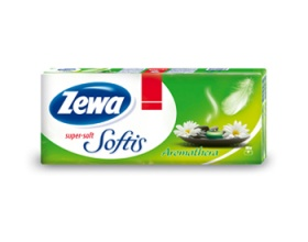 Zewa Softis Aromathera, Χαρτομάντιλα τσέπης με άρωμα χαμομηλιού 9 τεμάχια
