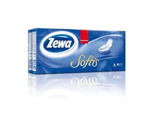 Zewa Softis, Χαρτομάντιλα τσέπης χωρίς άρωμα 10 τεμάχια