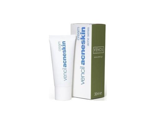Vencil, Acne Series, Acneskin Cream, Κρέμα για Λιπαρά & Ακνεϊκά Δέρματα, Μειώνει τη Λιπαρότητα & Προσροφά το Σμήγμα, 30 ml