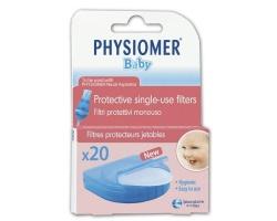 PHYSIOMER Baby Nasal Ανταλλακτικά φίλτρα για τον ρινικό αποφρακτήρα 20 φίλτρα