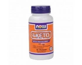 Now Foods 7-Keto 25mg 90 caps, dietary supplement that increases metabolism and helps in weight loss while strengthening the immune system and is a good ally of anti-aging