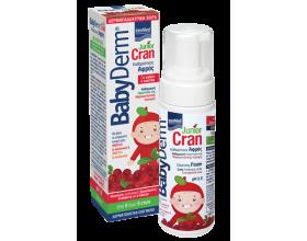 INTERMED Babyderm Junior Cran Εκχύλισμα cranberry & α-glucan Απαλός αφρός καθαρισμού της μηρογεννητικής περιοχής για αγόρια & κορίτσια 150 ml