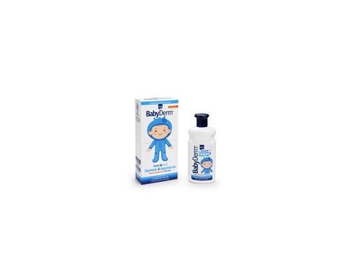 Intermed Babyderm Delicate Shampoo & Body Bath, Σαμπουάν & Αφρόλουτρο 2 σε 1, Eιδικό απαλό σαμπουάν και αφρόλουτρο για τον καθαρισμό και την περιποίηση του παιδικού σώματος 300 ml