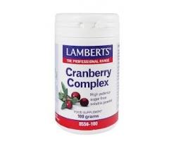 Lamberts Cranberry Complex Powder Συμπλήρωμα διατροφής για ασθενείς που υποφέρουν από συχνές ουρολοιμώξεις 100gr