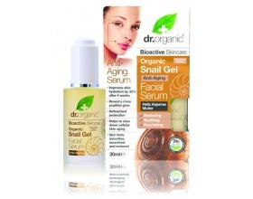 Dr. Organic Snail Gel Facial Serum 30 ml, Αντιγηραντικός Ορός Προσώπου με Έκκριμα από Σαλιγκάρι, ενυδατώνει άμεσα, αφήνει μια αίσθηση απαλότητας & αποκατάστασης