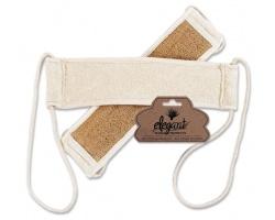 Elegant massage products Cosmeticom, Τρίφτης πλάτης sisal & βαμβάκι με κορδόνι