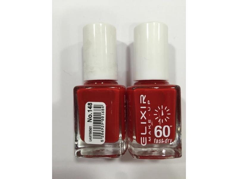 ELIXIR London Nail Polish Fast dry nail polish color red N148 13ml