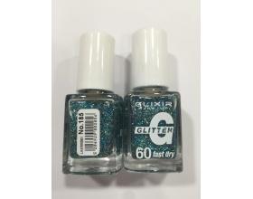 ELIXIR London Nail Polish Fast dry Βερνίκι νυχιών, με τρισδιάστατα glitter,  4G 60΄ Ν 185 13ml