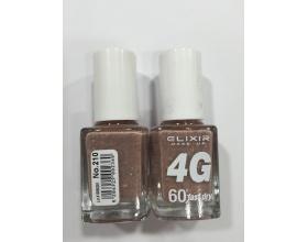 ELIXIR London Nail Polish Fast dry Βερνίκι νυχιών, με τρισδιάστατα glitter,  4G 60΄ Ν210