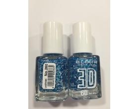 ELIXIR London Nail Polish Fast dry Βερνίκι νυχιών, με τρισδιάστατα glitter,  3D 60΄ Ν 260  13ml