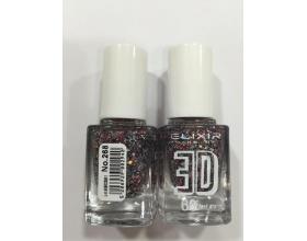 ELIXIR London Nail Polish Fast dry Βερνίκι νυχιών, με τρισδιάστατα glitter, 3D 60΄ Ν 268  13ml