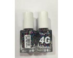 ELIXIR London Nail Polish Fast dry Βερνίκι νυχιών, με τρισδιάστατα glitter,  4G 60΄ Ν347
