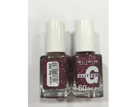 ELIXIR London Nail Polish Fast dry Βερνίκι νυχιών, με τρισδιάστατα glitter,  4G 60΄ N353 13ml