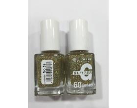 ELIXIR London Nail Polish Fast dry Βερνίκι νυχιών, με τρισδιάστατα glitter,  4G 60΄ Ν59 13ml