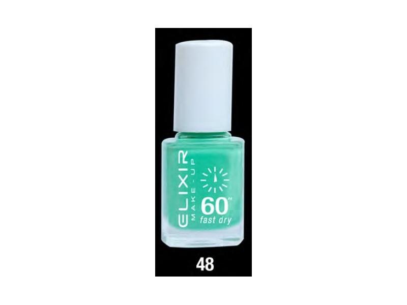 ELIXIR London Nail Polish Fast dry nail polish color green N48 13ml