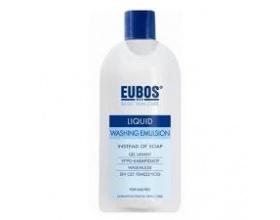 Eubos Liquid Bllue Washing Emulsion 200ml, Υγρό Καθαρισμού αντι σαπουνιού χωρίς άρωμα