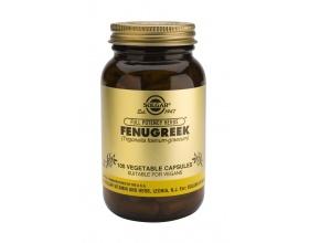 Solgar Fenugreek 100veg.caps Συμπλήρωμα διατροφής Μειώνει τη χοληστερίνη , τα λιπίδια και το σάκχαρο του αίματος 100 φυτοκάψουλες