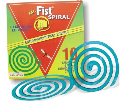Mr FIST Spiral Φιδάκι διώχνει σκνίπες & κουνούπια 10 κοπνογόνες