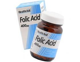 Health Aid Folic Acid 400μg Φολικό οξύ 90 ταμπλέτες