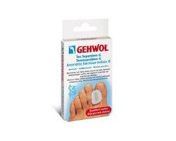 Gehwol Toe Separator G Large Αποστάτης δακτύλων ποδιού τύπου G Μεγάλου μεγέθους, Αντιπιεστικό, προστατευτικό επικάλυμμα πολυμερούς γέλης,Ανακουφίζει από την πίεση μεταξύ των δακτύλων, 3τεμ