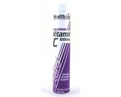 Health Aid Vitamin C 1000Mg - Φραγκοστάφυλλο 20'S Ef. Συμπλήρωμα διατροφής με αντιοξειδωτική δράση και για την άμυνα του οργανισμού Ιδανικό για καπνιστές 20 αναβράζοντα δισκία