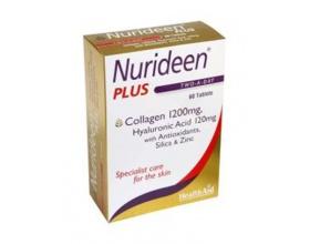 HealthAid Nurideen Plus, Ειδική φροντίδα για το δέρμα, Θαλάσσιο Κολλαγόνο με Υαλουρονικό οξύ & βιταμίνες, 60tabs