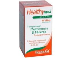 Health Aid Healthy Mega-Multivit Συμπλήρωμα διατροφής με Πολυβιταμίνες και Μέταλλα 30 ταμπλέτες