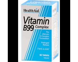 Health Aid Vitamin B99 Complex 60 Tablets, Σύμπλεγμα Βιταμινών Β για υγιές νευρικό σύστημα
