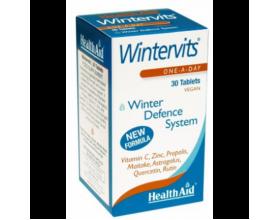 Health Aid Wintervits 30 ταμπλέτες, Συμπλήρωμα Διατροφής με βιταμίνη C, Ψευδάργυρο, Πρόπολη, Μαϊτάκε και Αστράγαλους για την ενίσχυση της άμυνας του οργανισμού και την ταχύτερη ανάρρωση απο κρυολογήματα