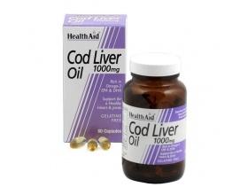 Health Aid Cod Liver Oil 1000mg 30caps, Μουρουνέλαιο για υγιές καρδιαγγειακό και νευρικό σύστημα