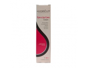 Hydrovit Eye & Lip Care Cream 20ml,  Αντιρυτιδική, Αντιγηραντική δράση για μάτια & χείλη με υαλουρονικό οξύ και κολλαγόνο