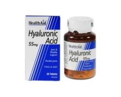 Health Aid HYALURONIC ACID 55mg για νεανικό δέρμα 30 ταμπλέτες