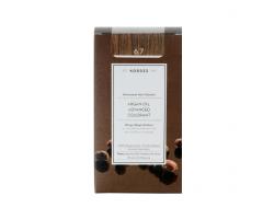 KORRES 6.7  Βαφή Μαλλιών με Έλαιο Argan & φυτική Κερατίνη, ΚΑΚΑΟ 50ml