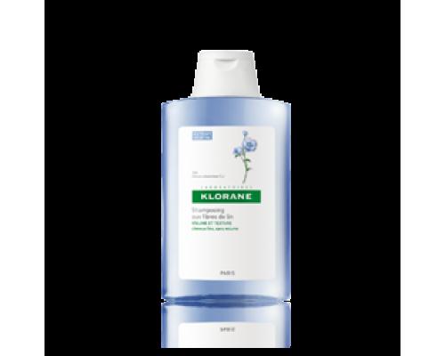 Klorane Shampoo Linum 400ml με ίνες λιναριού για όγκο και πλούσια αίσθηση