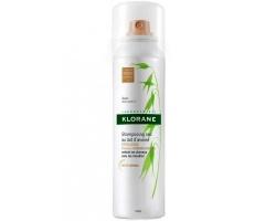 Klorane Shampooing Sec a L' Ortie Brown to Dark Hair Σαμπουάν για ξηρό λούσιμο με γαλάκτωμα βρώμης, για ανοικτά ή σκουρα καστανά μαλλιά 150 ml