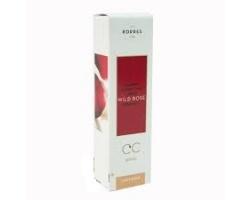 Korres Άγριο Τριαντάφυλλο CC Cream SPF 30, Medium Shade, 30ml