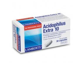 Lamberts Acidophilus Extra 10 30 caps, Συμπλήρωμα Διατροφής για την ισορροπία της εντερικής χλωρίδας